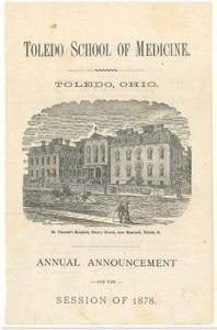 St. Vincent's Toledo School of Medicine, 1878