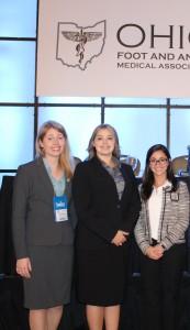 Amanda Lutter, DPM, Breanna Ferguson, DPM, and Brianna David, DPM Finalists at 2016 OHFAMA Scientific Seminar