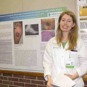 Amanda Lutter, DPM at 2017 Mercy Research Symposium