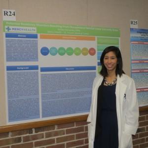 Ashley Fernando, DPM at 2017 Mercy Research Symposium