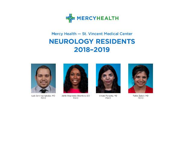 2018-19 Neurology Resident photos